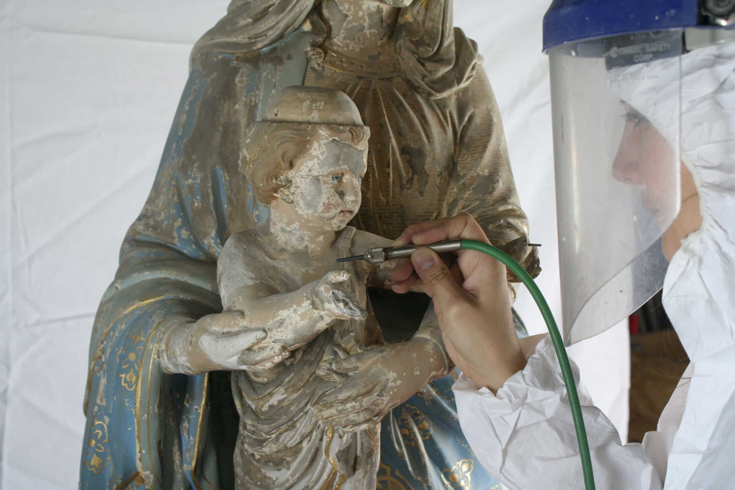 restauration conservation sculpture polychrome