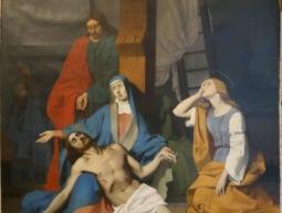 Toile sur la déploration du Christ Mort de l'Eglise Saint Pierre de Gémozac